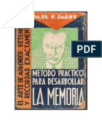 Jagot, Paul C. - Metodo Práctico para desarrollar la memoria