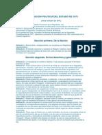 CONSTITUCIÓN POLITICA DEL ESTADO DE 1871