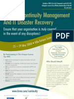Business Continuity Management And IT Disaster Recovery