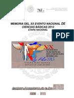 MEMORIA DEL XX EVENTO NACIONAL DE CIENCIAS BÁSICAS 2013