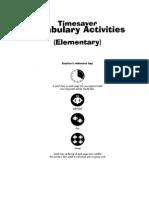 Timesaver Vocabulary Activities - Elementary