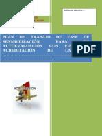Modelo de Plan de Trabajo de Sensibilizacion Con Fines de Autoevaluacion en Un IIEE