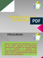 3RA   NORMA TÉCNICA DEL ODONTOGRA Y PLACA BACTERIANA