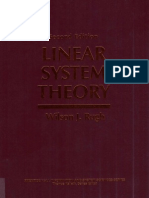 Rugh W.J. Linear System Theory (2ed., PH 1995)(ISBN 0134412052)(T)(596s)