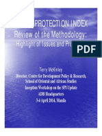 1-Social Protection Index Technical Workshop - Review of the Methodology_Highlights of Issues and Problems (Terry McKinley)