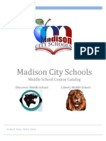 Madison Middle School Course Catalog