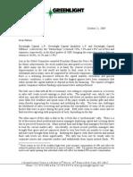 David Einhorn's Greenlight Capital Q3 Letter