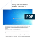 Como Recuperar Sua Senha Perdida No Windows 7