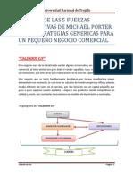 ANALISIS DE LAS 5 FUERZAS COMPETITIVAS DE MICHAEL PORTER Y LAS ESTRATEGIAS GENERICAS PARA UN PEQUEÑO NEGOCIO COMERCIAL 2