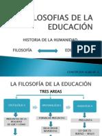 LAS FILOSOFIAS DE LA EDUCACIÓN
