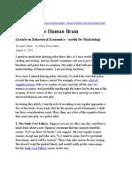 Marketing - Behavioral Economics - Poker and Human Brain - Aug 2010