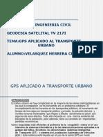 Gps Aplicado a Transporte Urbano