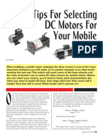Tips for Selecting DC Motors for Your Mobile Robot