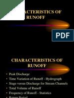 Characteristics of Runoff