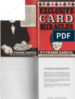 Frank Garcia - Exclusive Card Miracles