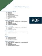 Agenda for ITIL F