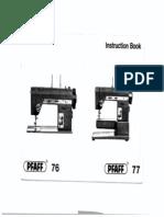 Pfaff 76-77 Manual