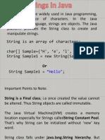 Java Strings