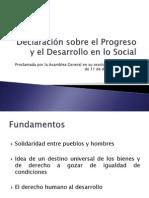 Declaración sobre el Progreso y el Desarrollo en