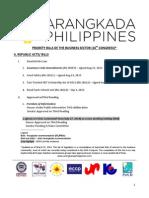 Legislative Priorities - March 2014 - 16th Congress