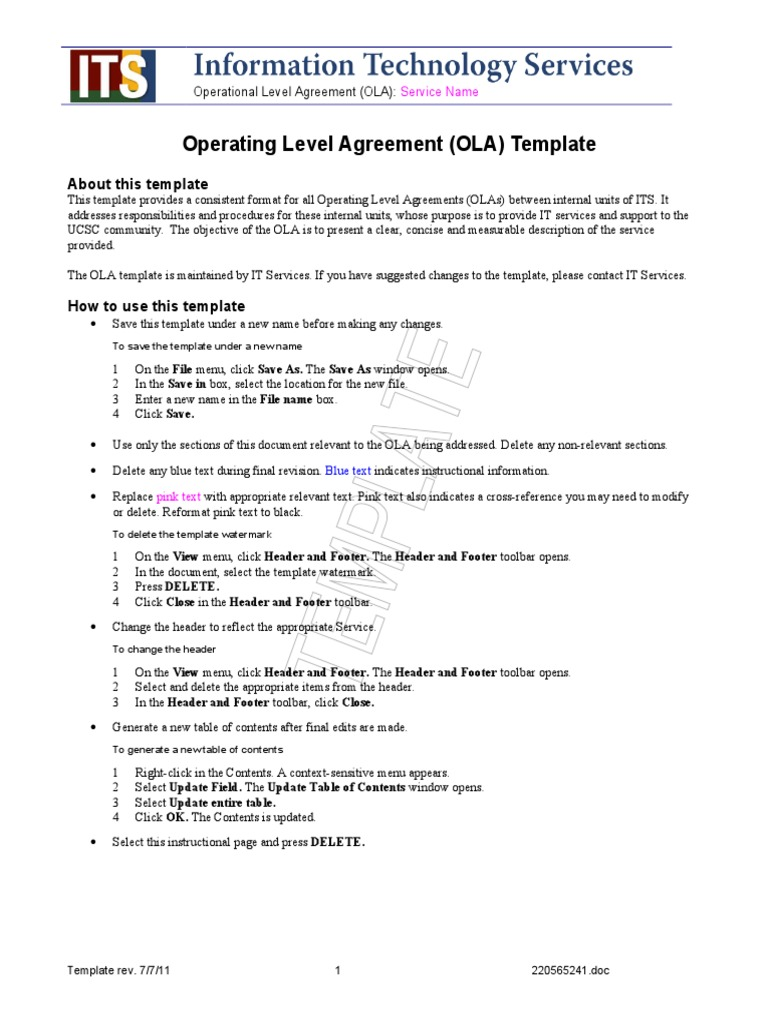 Best Ola Agreement Template Photos Beautiful Contract Template