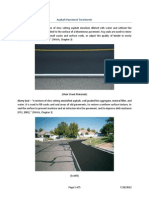 Asphalt Pavement Treatments
