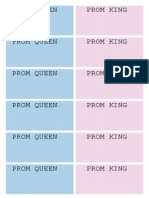 Prom Voting Slips