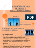 Equidad de Genero Bolivia