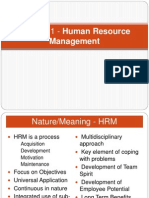 HRM Chapter 1 Lecture 2 HRM
