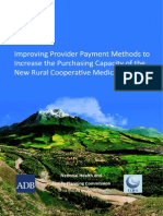 Improving Provider Payment Methods to Increase the Purchasing Capacity of the New Rural Cooperative Medical Scheme