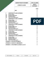 ATDP ES 000098 - ESTIMATE CLASSES