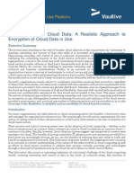Taking Control of Cloud Data a Realistic Approach to Encryption of Cloud Data in Use[1]