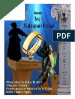 year 9 shakespeare festival 2014