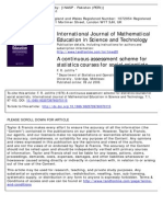 A Continuous Assessment Scheme for Statistics Courses