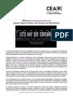 Nota de Prensa CEAR- campaña estohayquecortarlo (01.04.14)