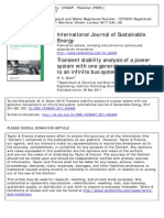 Transient Stability Analysis of a Power System With One Generator