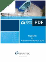 Advance Concrete 2013 - Noutăţi