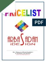 Arbasadan Pricelist