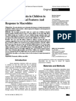 Atypical Pneumonia in Children in Islamabad Clinical Features and Response to Macrolides