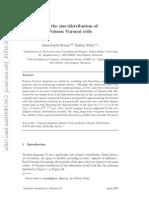 Size distribution Voronoi cells