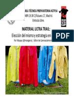 Material Ultra Trail, por Mayayo