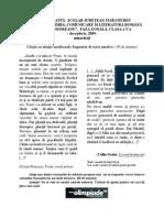 """subiecte MARAMURES OLIMPIADA DE LIMBĂ, COMUNICARE ŞI LITERATURĂ ROMÂNĂ """"IONEL TEODOREANU"""", FAZA ZONALĂ, CLASA a V-a - decembrie, 2009- minorităţi"""