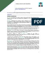 Publication and Training of Faridul Islam