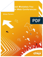 Gihan Perera Citrix White Paper the 7 Biggest Mistakes You Can Make in Web Conferences