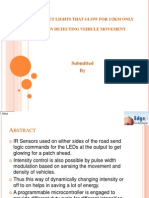 automatic street light control based on the vehicle  movement