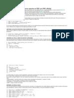 Generar Reportes en PDF Con PHP y MySql