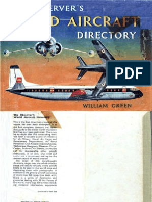 1961 The Observers World Aircraft Directory