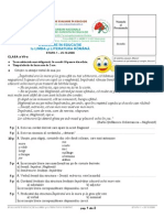 2008 Evaluare in Educatie Subiecte ROMANA Clasa7