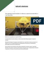 Aplicatii robotizate