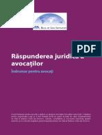 Raspunderea juridica a avocatilor - Indrumar